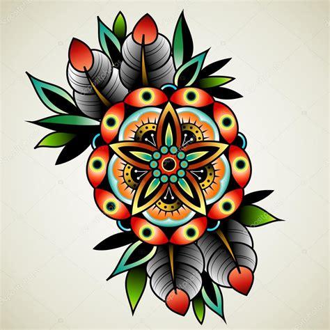 fiori school flor tatuaje de la vieja escuela archivo im 225 genes