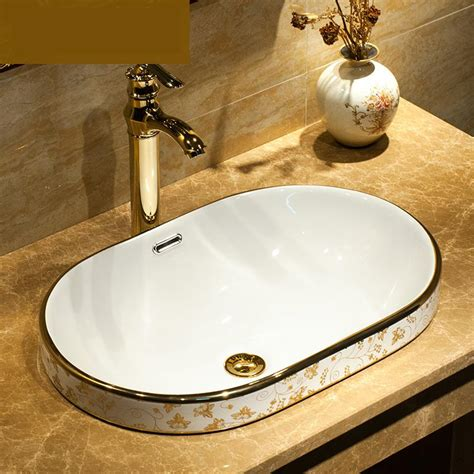 Buy Bathroom Sinks by Aliexpress Buy Semi Embedded China Handmade Lavabo