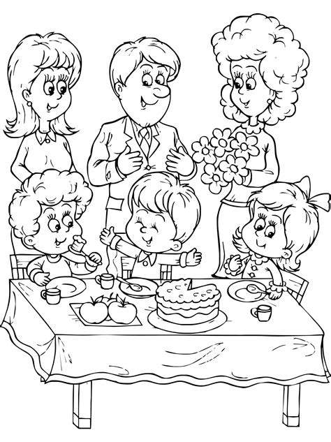 coloring page of family family coloring pages for fun in coloring coloringpagehub