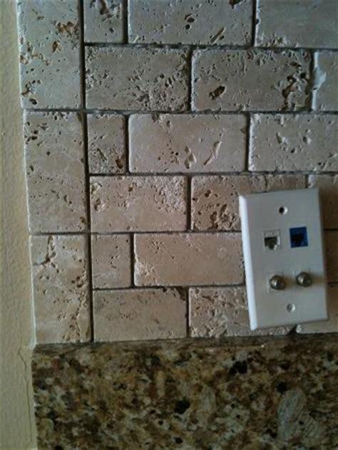 how to install travertine tile backsplash ceramictec 2x4 tumbled chiaro travertine backsplash