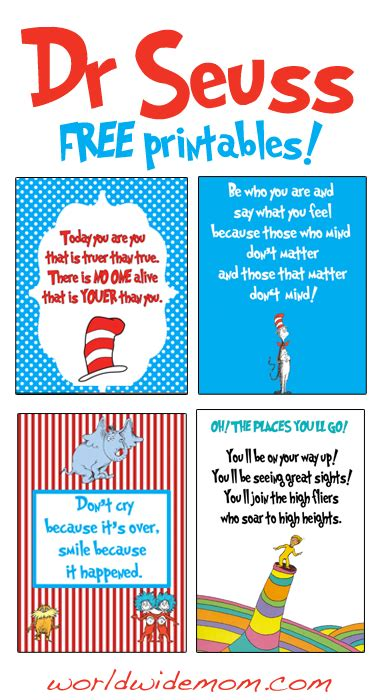 printable dr seuss reading quotes free printable wall art dr seuss day celebrate with