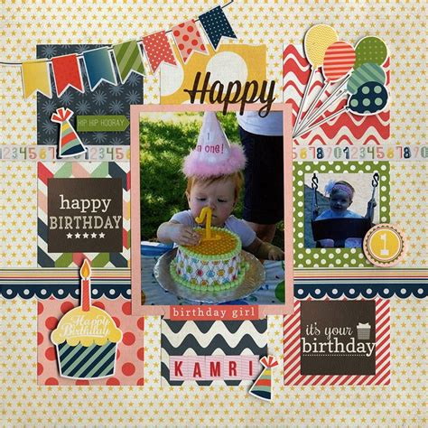 scrapbook layout birthday 234 best images about birthday scrapbooking on pinterest