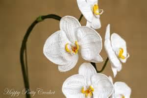 crochet orchid pattern by happy patty crochet