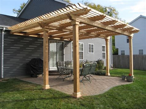 Patio Pergola by Building A Pergola On Deck U Design Built In With