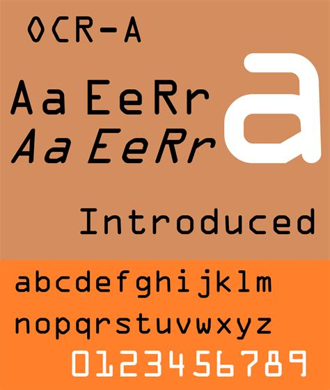 Credit Card Letter Font Ocr A