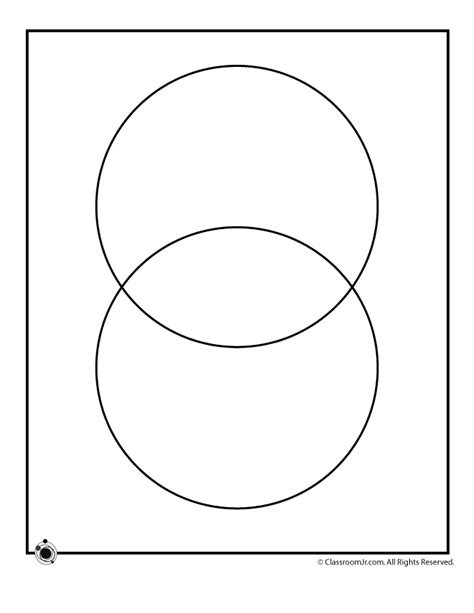 printable venn diagram compare and contrast printable blank venn diagrams 2 circle venn diagram
