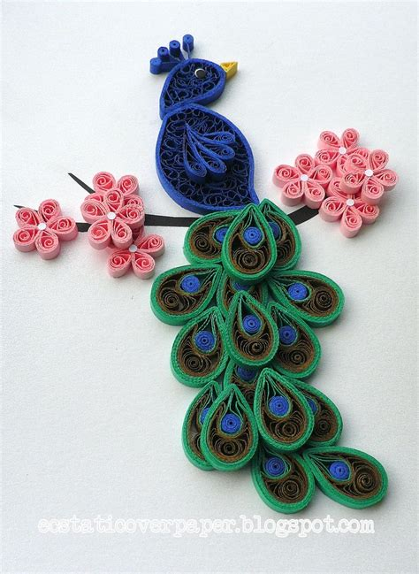 Paper Quilling Craft - peacock crafts quilling beautiful