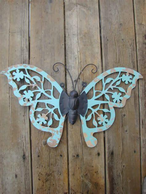 rustic wood flower butterfly mondus distinction garden decor