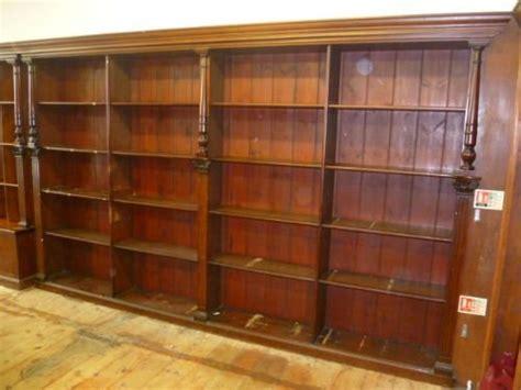 Shop Bookshelves Large Antique Pine Bookcase Shop Fitting 161748