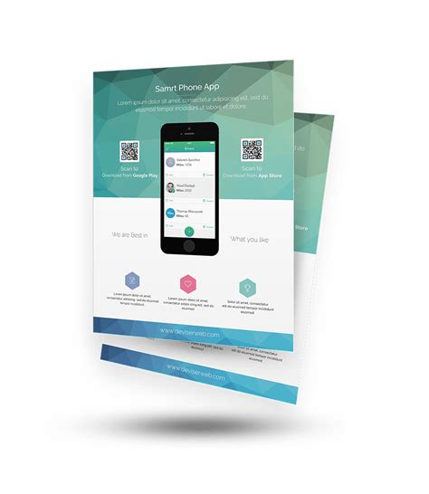 100 High Quality Free Flyer And Brochure Mock Ups Templates Page 7 Of 7 365 Web Resources App Promo Template