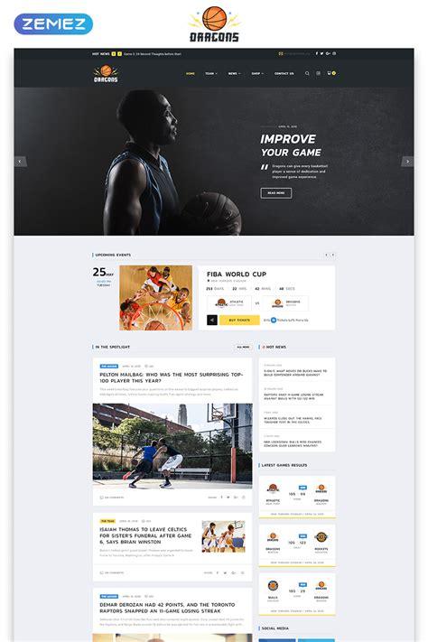 Basketball Team Multipage Html5 Template Basketball Team Website Template