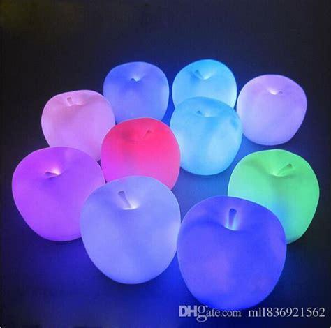Changed 7 Colors Apple L cheap led light change apple shaped led mood l light