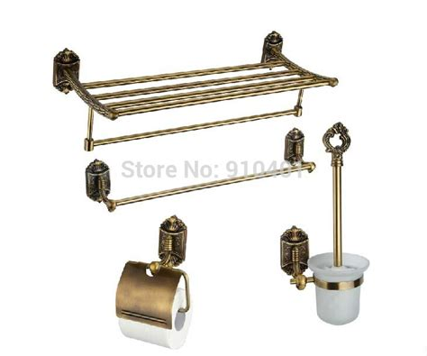 antique bronze bathroom accessories wholesale and retail promotion antique bronze bathroom accessories 4 pcs towel shelf