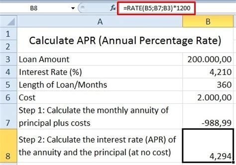 what is apr and how how to create an apr formula on excel quora