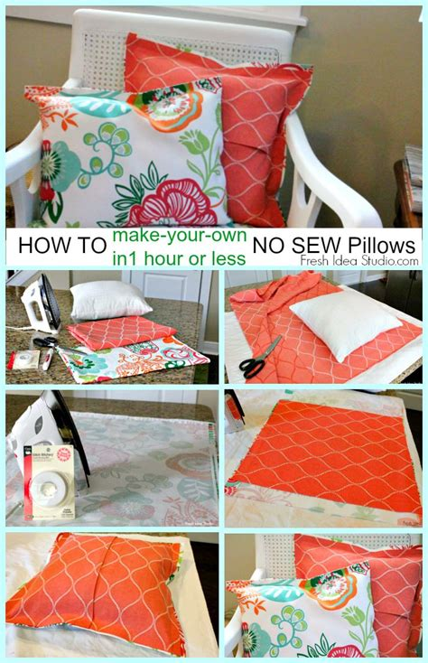 how to make your own easy no sew pillow cover in 1