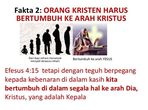 Kebenaran Kebenaran Dasar Iman Kristen kedewasaan rohani