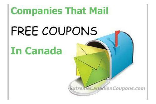 mail free coupons canada