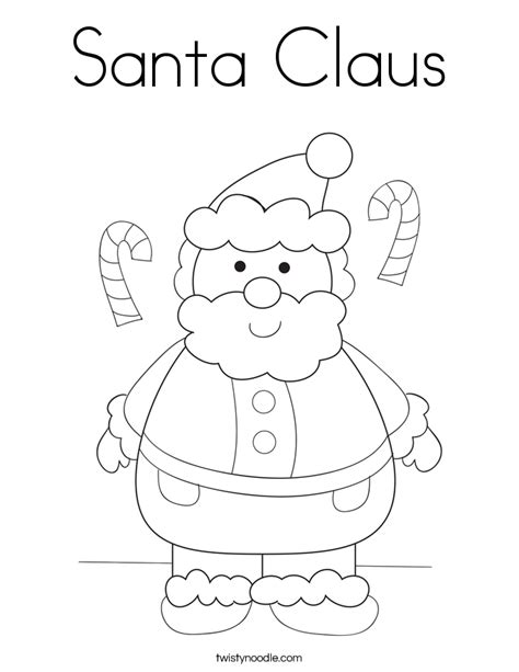 printable coloring pictures of santa claus santa claus coloring page twisty noodle