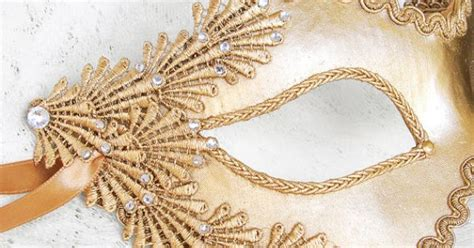 Topeng Mask Lace Misterius metallic glitter gold masquerade mask with rhinestones and embroidery lace applique covered