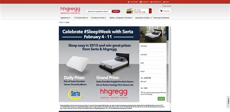 Hhgregg Sweepstakes - celebrate sleep week with serta and hhgregg sweepstakes