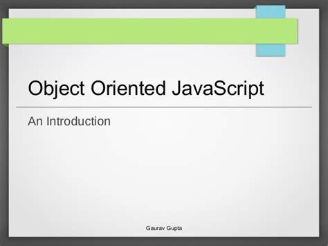 tutorial javascript object object oriented javascript