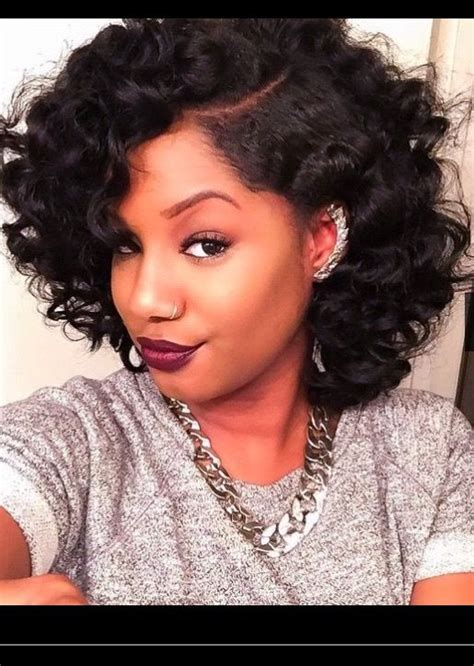 relaxed hairstyles curls 72 best bob hairstyles for black women images on pinterest
