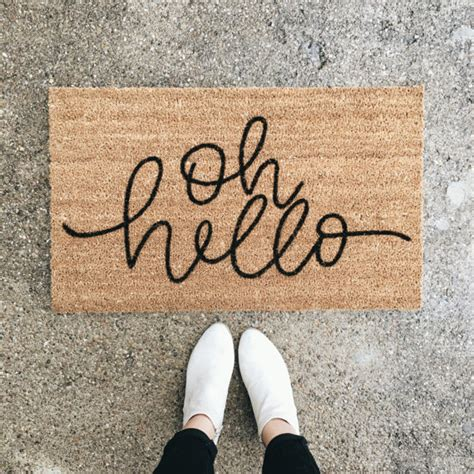 Hello Welcome Mat by The Lc Edit Conrad