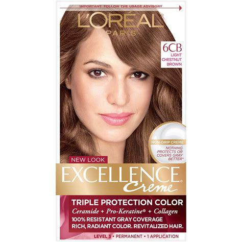 l oreal excellence creme permanent hair color medium coppery golden brown 8 43 1 74 oz pack l or 233 al excellence cr 233 me permanent hair color 5cb medium chestnut brown 1