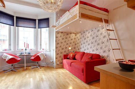 Cool Design Inspiration Of Small Studio Apartment Cool Studio Bedroom Design