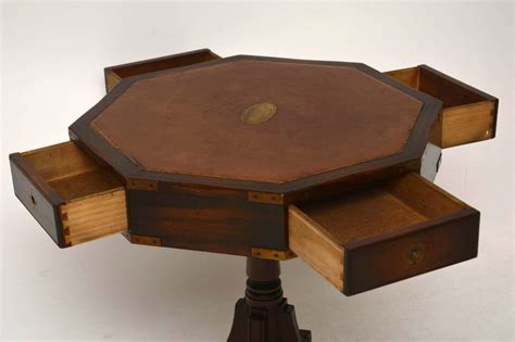 leather top drum table antique mahogany leather top style drum table