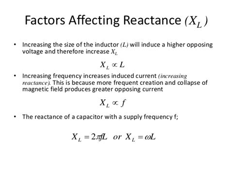 find the reactance of the inductor to find the reactance xl of an inductor imagine that a current 28 images inductive reactance