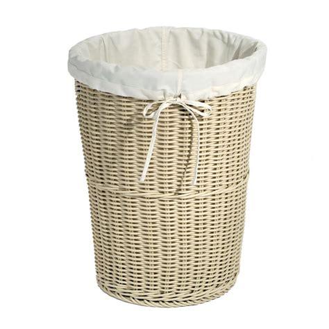 Seville Classics Wicker Weave Laundry Her Ivory Web398 Laundry Wicker