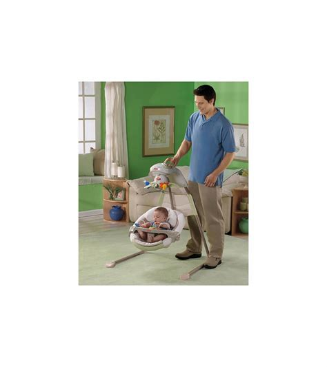 fisher price nature touch cradle swing fisher price natures touch baby papasan cradle swing