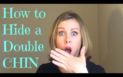 how to hide a double chin youtube