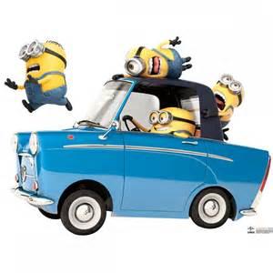 minions car giant stickers kidsbedrooms children bedroom specialist