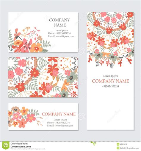 set of business or invitation cards templates corporate