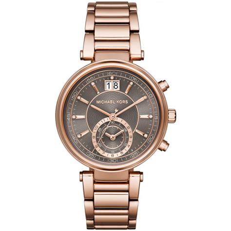 montre michael kors montre sawyer mk6226 montre ronde chronographe femme sur bijourama n 176 1 de