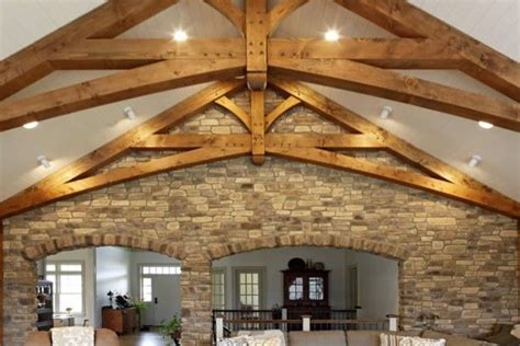 modified scissor trusses   great room timber