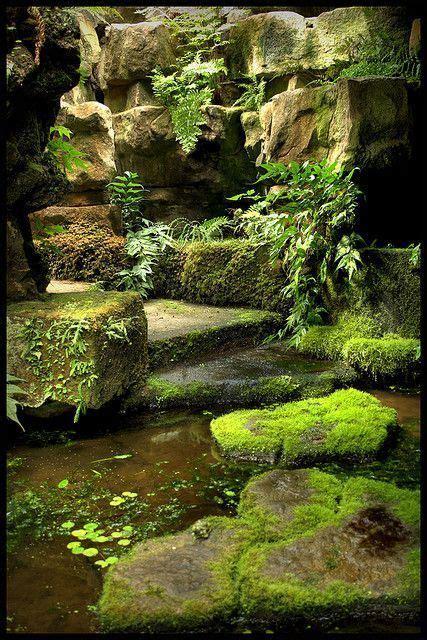 wasserlauf im garten 112 mossy path gardening lene serenity in the garden