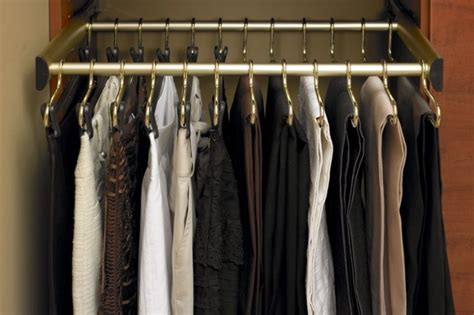 Slide Out Pant Rack by Dual Hanging Slide Out Pant Rack Organization Ideas