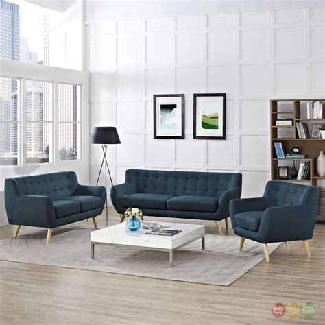 Tufted Living Room Set by Remark Modern 3pc Button Tufted Upholstered Living Room