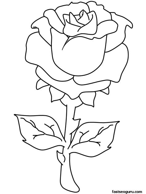 free coloring pages roses printable free printable rose coloring pages az coloring pages