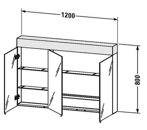 duravit ketho 1200mm 3 door mirror cabinet kt753301818 duravit vero 1200mm 3 door mirror cabinet with led