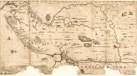map of new jersey in colonial times new jersey department of state