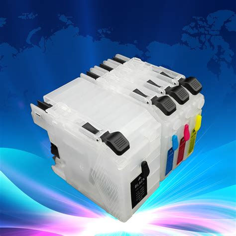 Cartridge Printer Dcp J100 lc 535 lc 539 refillable ink cartridge for inkjet printer dcp j100 dcp j105 mfc j200 in