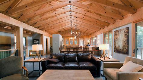 Impressive Scissor Truss fashion Other Metro Contemporary Living Room Image Ideas with beams