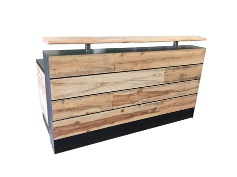Wooden Reception Desk Buy A Made 17 Pine Reclaimed Wood Reception Desk Or Reclaimed Wood Sales Desk Made To