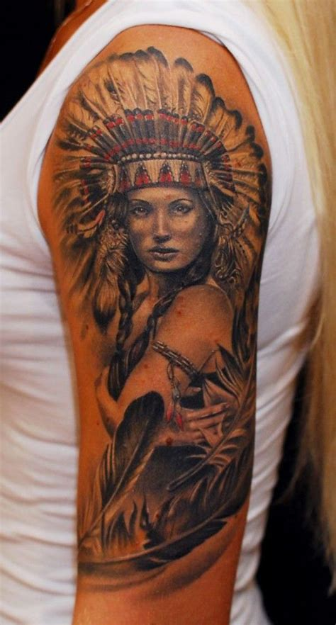native american girl tattoo american tattoos top 100 for the free spirited