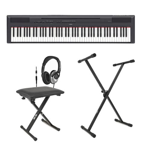 piano keyboard stand and bench yamaha p 115 digital piano black inc stand bench and