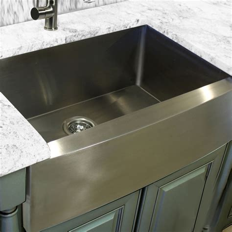 30 Quot Zero Radius Handmade Stainless Steel Farmhouse Apron Stainless Steel Farmhouse Kitchen Sink